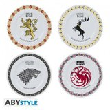Set 4 farfurii Game of Thrones Steagurile Caselor